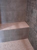 création banc dans douche