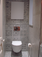 création wc carrelage