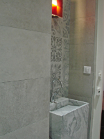 création lavabo en pierre